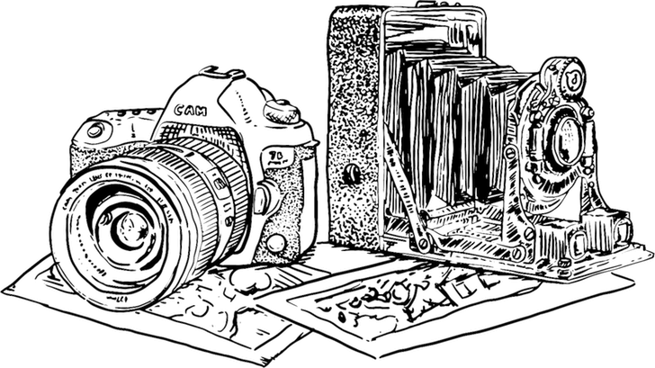 Illustration of two cameras