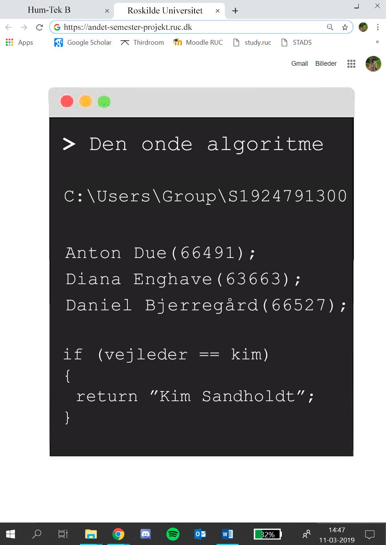 Den Onde Algoritme