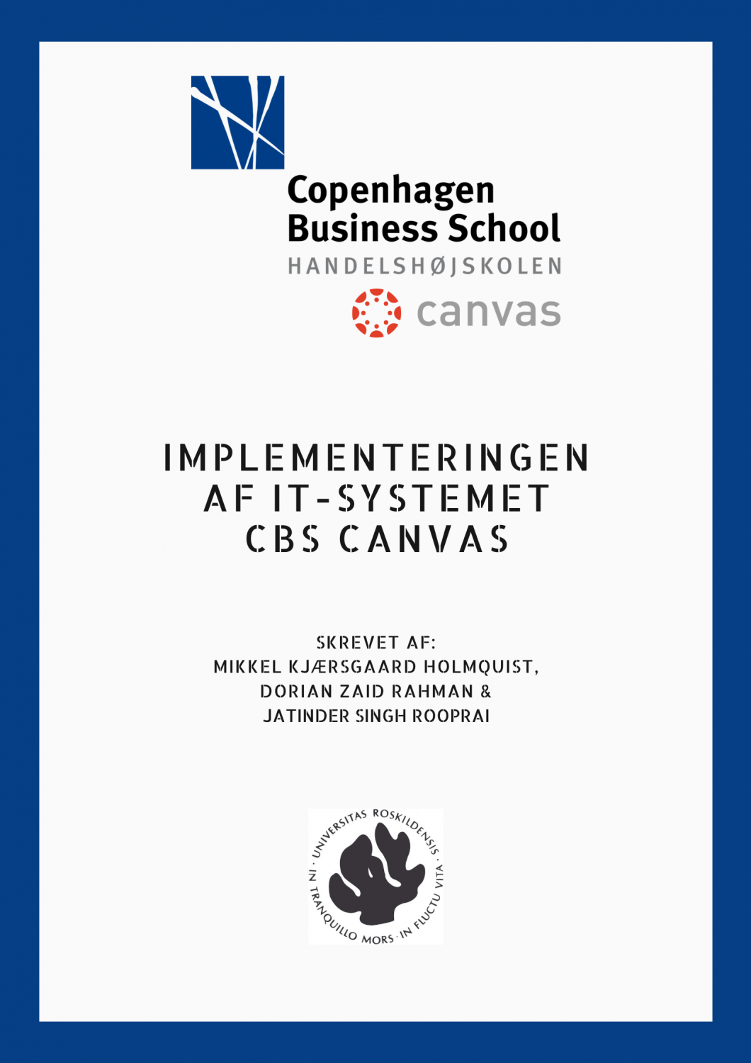 Implementeringen af CBS Canvas
