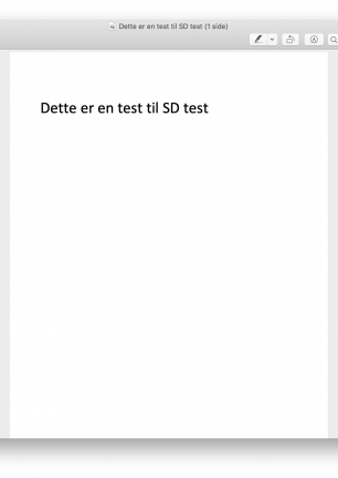 SD test