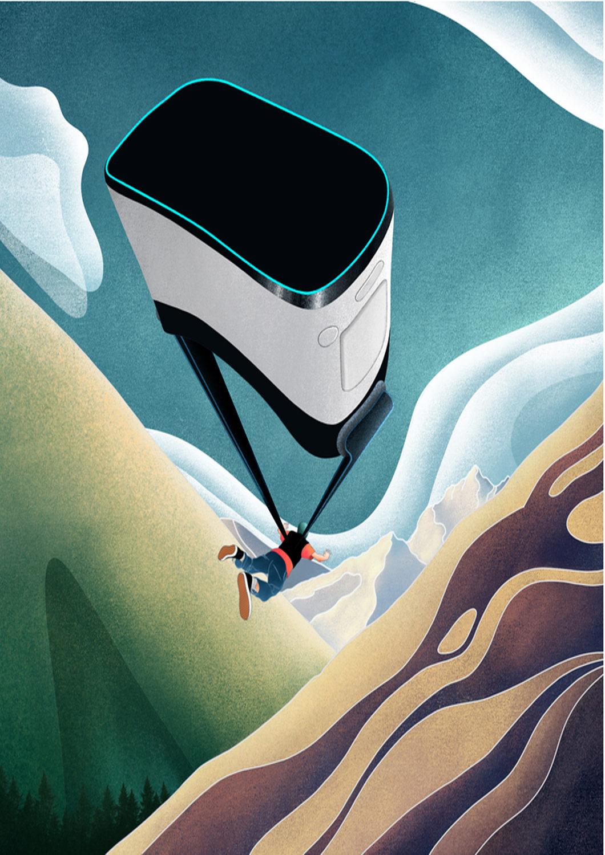VR faldskærmsudspring