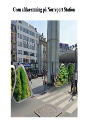 Grøn afskærmning på Nørreport Station
