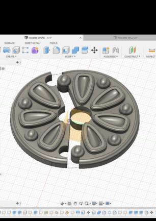 3D printed rosette