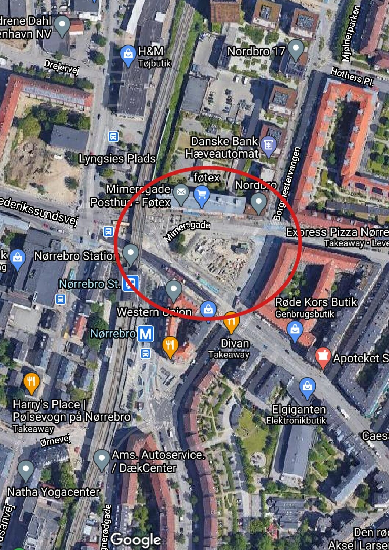 Basargrunden ved Nørrebro station