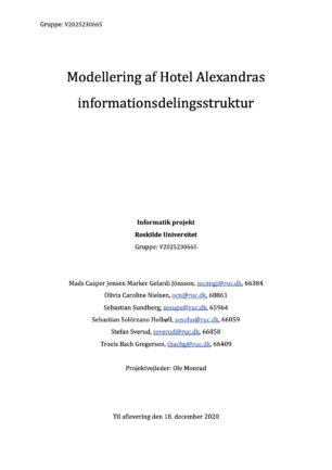 """""""Modellering af Hotel Alexandras…"""
