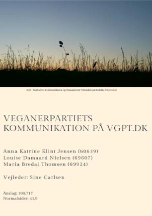 Veganerpartiets kommunikation på vgpt